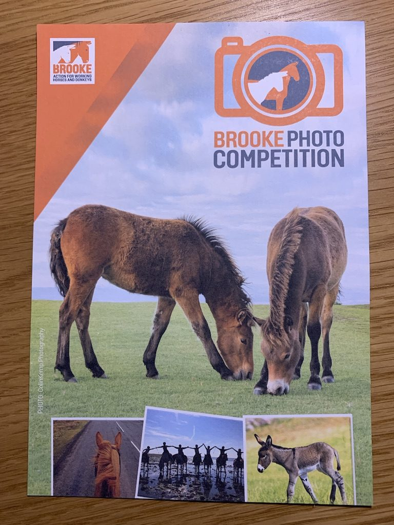Brooke Photo competition leaflet with  lead image by Colin Kemp